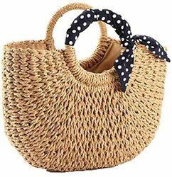 handmade bag straw totes for women $35.00