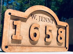 Personalized Home Address Plaque Wood 12x9