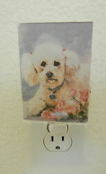 Best Friends By Ruth Maystead Night Light- Poodle Dog-acrylic