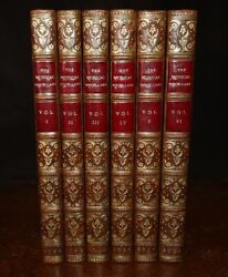1729 The Musical Miscellany Set To Violin Flute 6 Vols Zaehnsdorf Binding 1st Ed