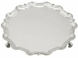 Antique Sterling Silver Salver By Mappin And Webb Ltd Sheffield - 1900-1940 1555g