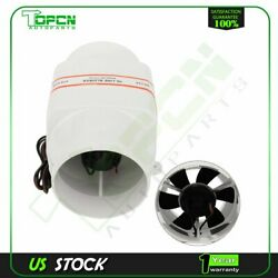 4and039and039 In Line Dc 12v Marine Boat Bilge Air Blower Fan 270 Cfm Ventilation