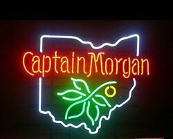 Captain Morgan Ohio 20x16 Neon Sign Lamp Light Beer Bar With Dimmer