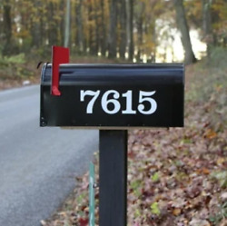 SET OF 2 Custom Mailbox Numbers Vinyl Decals Stickers Choose Size amp; Color