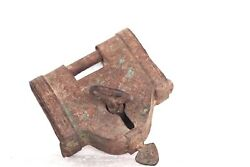 Iron Lock And Key Old Vintage Antique Design Rare Collectible N-31