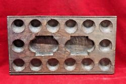Wooden Egg Tray Game Old Vintage Indian Handmade Collectible Bf-75