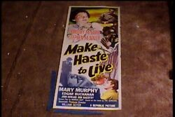 Make Haste To Live 1954 Insert 14x36 Movie Poster Dorothy Mcguire