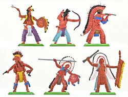 Britains Deetail Indians - 6 In 6 Poses - 7450 Ex-mint Condition