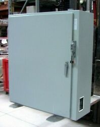 Hoffman Electrical Enclosure Lots Of Parts Motor Starters Heaters Fuses And M