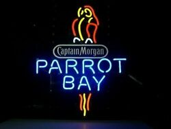 New Captain Morgan Parrot 17x14 Neon Sign Lamp Light Beer With Dimmer
