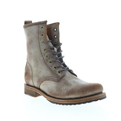Frye Veronica Combat 70589 Womens Brown Leather Lace Up Casual Dress Boots $49.99