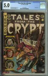 Tales From The Crypt 44 Cgc 5.0 Guillotine Cover Pre-code Horror