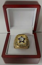 Roger Staubach - 1971 Dallas Cowboys Super Bowl Gold Color Ring With Wooden Box