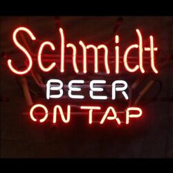 Schmidt Beer On Tap 20x16 Neon Sign Lamp Bar With Dimmer