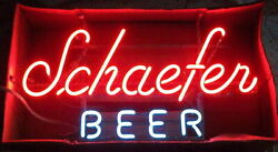 Schaefer Beer 20x14 Neon Sign Lamp Bar With Dimmer