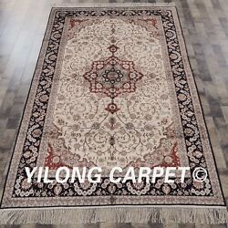 Yilong 5'x8' Antique Handmade Silk Classic Carpets Classic Hand-knotted Rug 046m