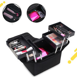 Professional Empty Makeup Organizer Cosmetic Bag Large Capacity Make Up Case New $58.00