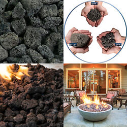 Natural Lava Rocks   2-4 Volcanic Lava Rock For Fire Pits And Fireplaces 10 Poun