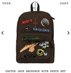 Travis Scott X Fortnite Astronomical Cactus Jack Backpack With Patch Set New