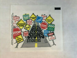 Real Road Signs Stickers Cards Unfolded Wrapper Fleer 1960s Vhtf