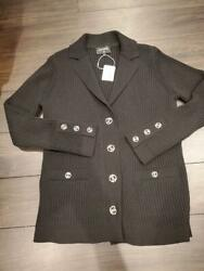 Rare Chanel Knit Jacket Size M From JAPAN No.64636