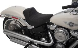 Scorpion Stitched Vinyl Solo Seat Black/silver Low 0802-1186 For 18-20 Hd Flfb