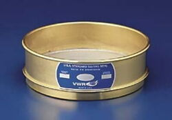 Vwr Testing Sieves, 12 Brass Frame, Stainless Steel Wire Cloth 325bs12i