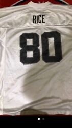 Vintageoakland Raiders Jersey Jerry Rice 80 White Nfl Football Size L Unisex