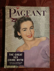 Pageant Magazine June 1950 Peggy O'connor Peter Basch George Burns