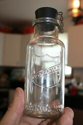 Antique Clear 6and039and039 Mojonnier Dairy Test Bottle/stopper Item A - 845