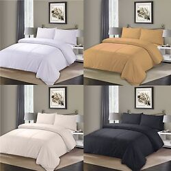 Superior Cotton Pleated Pintuck Duvet Quilt Cover And Pillowcase Bedding Set