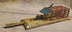 Attributed Meier Mechanical Mousetrap Tin Penny Toy,