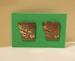 Kentucky Derby Pegasus Festival Pin Set 1988 Instant Win And Gold Return