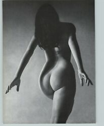 1965 Peter Basch Rear View Flowing Hair Nude Female Breasts Photo Gravure