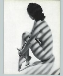 1965 Peter Basch Sun Lighting Blinds Shadow Nude Female Breasts Photo Gravure