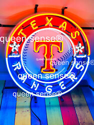 Texas Rangers Neon Sign 20x20 With Hd Vivid Printing Technology