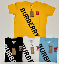 Burberry Mens Tee Shirt Cotton Printed T Shirt Free Shipping Brand New with Tags
