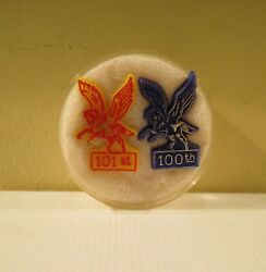 Very Rare Kentucky Derby Pegasus Festival Pins 1974 And 1975 Mint Condition