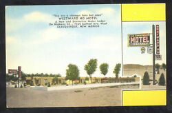 Albuquerque New Mexico Route 66 Westward Ho Motel Advertising Postcard Nm