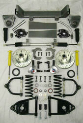 1953-56 Ford F100 Mustang Ii Manual Front End Suspension Stock Kit Black Wilwood
