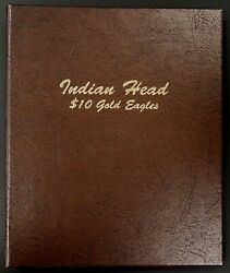 Custom Printed Dansco Album For Indian Head 10 Gold Eagles 2 Pages 32 Ports