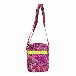 Thankful And Blessed Pink Paisley Large Quilted Cotton Bible Cover Tote Bag