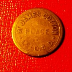 James Cotton Placelead S.d. Brass Good For 25 Cents In Trade Token