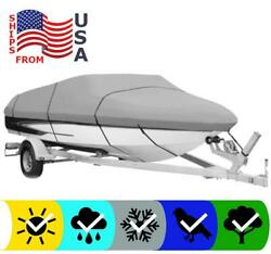 Gray Boat Cover For Tracker Grizzly Bass 1648 2017 2018 2019