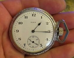 The Elgin Pocket Watch From 1911 Antique Is A Very Rare Model For A Collection.