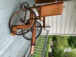 Andnbspantique Gendron Wheel Co. 60019b Wood / Wicker Triwheel Chair - Wwi Wwii