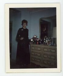 Awesome Interiors - Awesome Outfit Lady Posing Bar Vintage Snapshot Color Photo