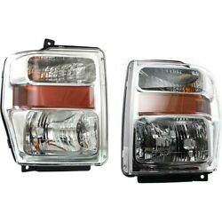 Headlight Lamp Left-and-right For F250 Truck F350 F450 F550 Fo2503243, Fo2502243