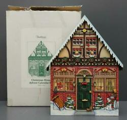 Byers Choice Traditions Wooden Christmas House Advent Calendar W/ Box 2003