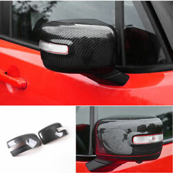 For 2015-2020 Jeep Renegade Abs Carbon Fiber Rear View Side Mirror Cover Trim